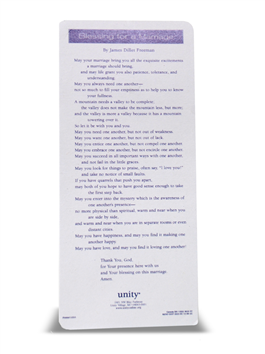 Blessing for A Marriage Bookmark