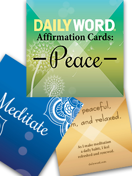 DAILY WORD Affirmation Cards: Peace