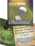 DAILYWORD Affirmation Cards: Abundance