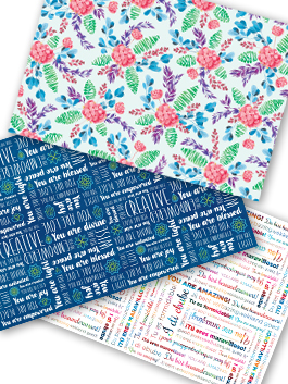 Positive Paper Gift Wrap