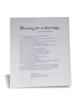 Blessing For A Marriage Frameable
