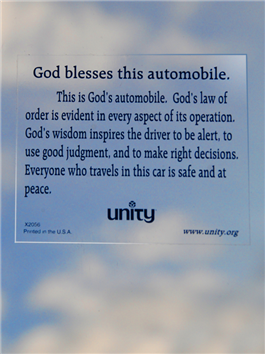 Unity Store: Automobile Blessing Sticker