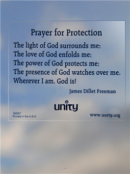 Prayer For Protection Static Sticker