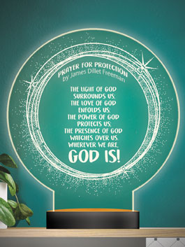 Prayer for Protection Lamp